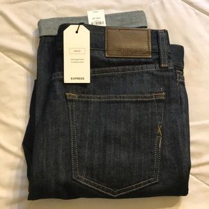 Express Mens Slim Straight Jeans - Size 30x32
